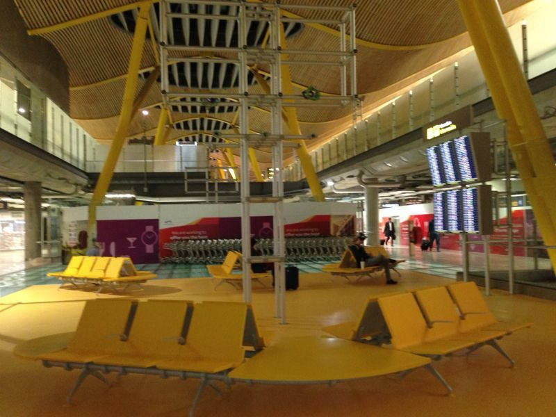 Sleeping at Madrid Barajas airport